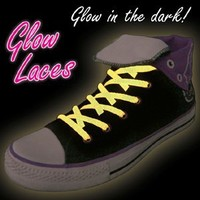 Pink Glow in the Dark Shoe Laces - Pink