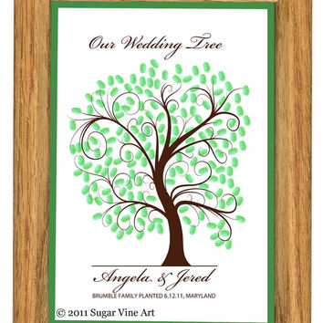 WEDDING TREE GUEST book, thumbprint tree, fingerprint guest tree, fingerprint tree guest book, Love Birds, Wedding tree 13x19 num. 102