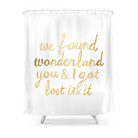 Society6 Wonderland Shower Curtains