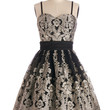 Chi Chi London Spaghetti Straps Fit & Flare Flawless Flair Dress