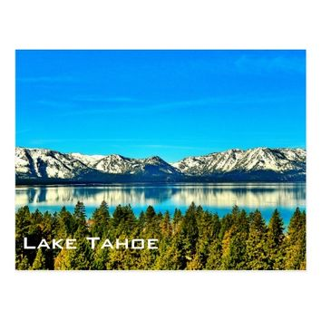 LOVELY LAKE TAHOE POSTCARD