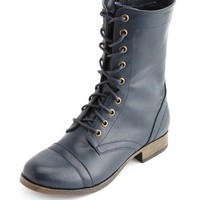 SIDE-ZIP LACE-UP COMBAT BOOT