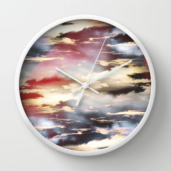 Combateur II Wall Clock by HappyMelvin Graphicus
