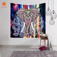 Elephant Tapestry Colored Printed Decorative Mandala Tapestry Indian 150x102/150x130/200x150/229x150cm Boho Wall Carpet GT01