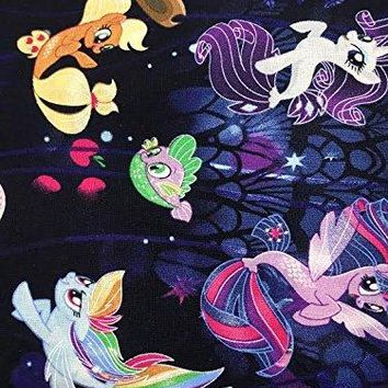 MLP My Little Pony ~ Cotton Fabric ~ Mermaid Tails! by the yard