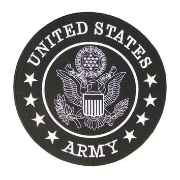 UNITED STATES  US ARMY LARGE BACK PATCH FOR BIKER MOTORCYCLE VEST JACKET RED NEW