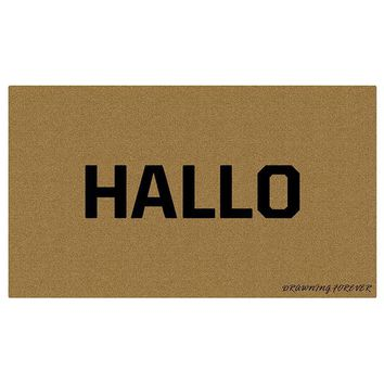 Autumn Fall welcome door mat doormat Hallo Welcome Floor Mats  Personalized Entrance  Home Decorative s Funny Rugs Foot Pad for Rubber Mat Anti-Slip AT_76_7