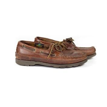 new Timberland leather boat shoes mens size 9 m / classic loafers moccasins