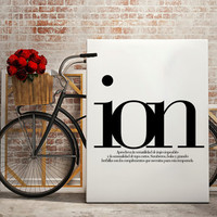 "FASHION Print Typography - ""ion"" only! Fashion Magazine illustration, Fashion quotes, art, wall art"