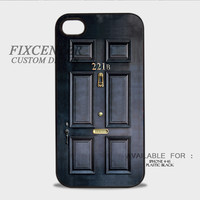 SHERLOCK HOLMES 221b DOOR Plastic Cases for iPhone 4,4S, iPhone 5,5S, iPhone 5C, iPhone 6, iPhone 6 Plus, iPod 4, iPod 5, Samsung Galaxy Note 3, Galaxy S3, Galaxy S4, Galaxy S5, Galaxy S6, HTC One (M7), HTC One X, BlackBerry Z10 phone case design