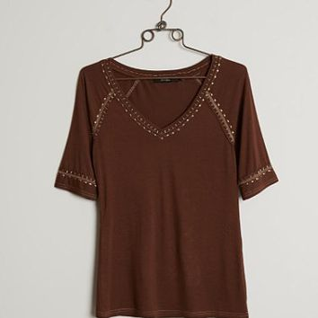 BKE BOUTIQUE EMBELLISHED TOP