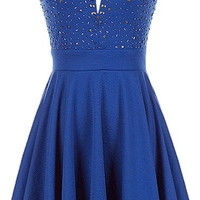Sapphire Dream Dress | Blue Fit and Flare Sweetheart Dresses | Rickety Rack