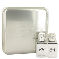 Gift Set -- 24 Platinum 1.7 oz Eau De Toilette Spray + 24 Platinum Oud 1.7 oz Eau De Toilette Spray