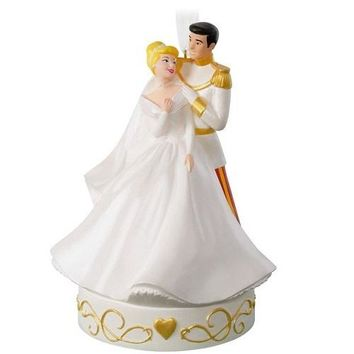 Hallmark Cinderella So This Is Love Porcelain Musical Ornament