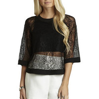 Sheer Overlay Top