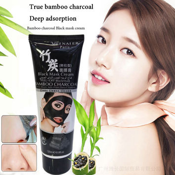 120ml  Black mud Facial face mBlack Mask For The Face Removing Blackheads Black Head Pore Strip Peel Off Mask For Acne Skin Care