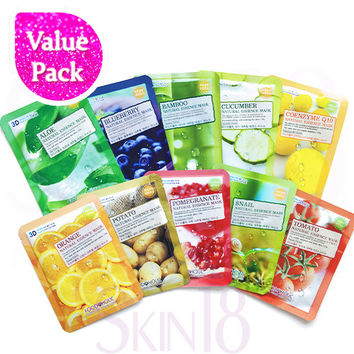 [ Value Pack ] Foodaholic 3D Essence Masks x 10pcs