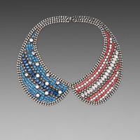 DANNIJO Liberty Bib Necklace in American Flag at Revolve Clothing - Free Shipping!
