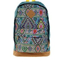 ASOS Backpack with Multi Aztec Panel at asos.com