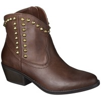 Women's Mossimo Supply Co. Kalayla Studded Cowboy Ankle Boot - Cognac