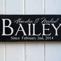 Custom Family Name Established Hand Painted Sign