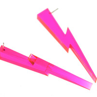 translucent pink lighting posts