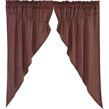 Tartan Red Prairie Curtains