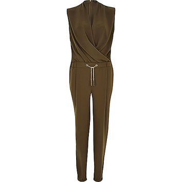 Elegant Highstreetedited Khaki Jumpsuit Frayed Denim And A Laundry Tip