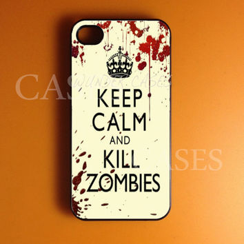 Iphone 4 Case, Zombies Iphone 4s Case Cover, Coolest Fun Iphone Cases, Snap On Rubber or Hard Plastic Case