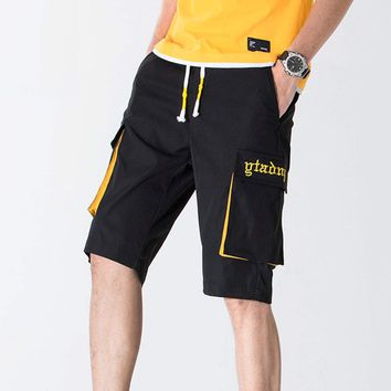 Mens Two Tone Cargo Shorts