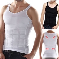 HOT Weight Vest Slimming Body Shaper Belly Fatty Thermal Underwear Vest Shirt Corset Compression Lose Weight Vest
