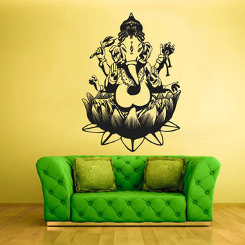 Wall Vinyl Sticker Decals Decor Art Bedroom Kids Design Mural Tribal Elephant Ganesh Ganesha Lord of Success India Budda Buda (z1535)