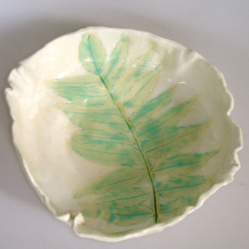 Leaf Serving Bowl by Clayshapes on Etsy