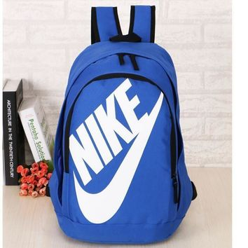 One-nice™ NIKE Fashion Sport Daypack Bookbag Shoulder Bag Travel Bag School Backpack white golden hook