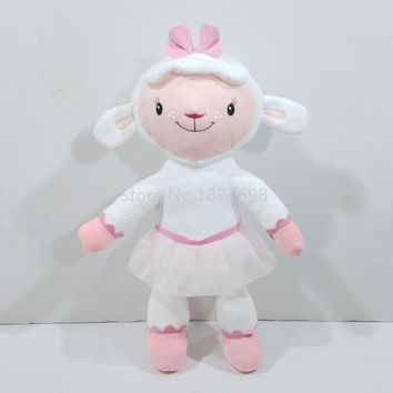 New Doc McStuffins Toys Lambie Lamb Plush Doll Toy Large Size 55cm Cute Sheep Stuffed Animals Kids Baby Dolls For Girls