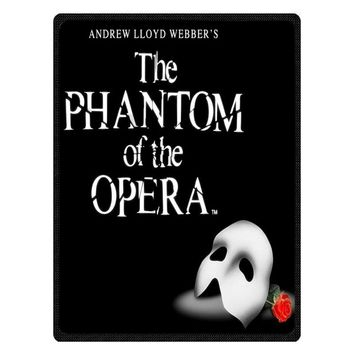 Musical The Phantom of the Opera Flannel Fleece Summer Travel Blankets Soft Coral Air Condition Baby Blanket Custom Bedsheet