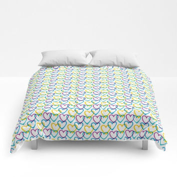 I Love the 80s Teen Comforter, Bedding, Decor, Full, Queen, King, Teen Decor, Dorm Room Decor, Bedding for Girls, Bedding for Teens