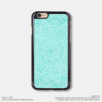 Blue Mandala Floral Free Shipping iPhone 6 6Plus case iPhone 5s case iPhone 5C case iPhone 4 4S case Samsung galaxy Note 2 Note 3 Note 4 S3 S4 S5 case 797