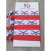 Field Hockey Hair Accessories - Red