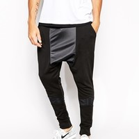 ASOS Drop Crotch Sweatpants With Polytrico Panel