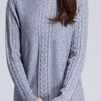 Knitted Turtleneck Cashmere Pullover