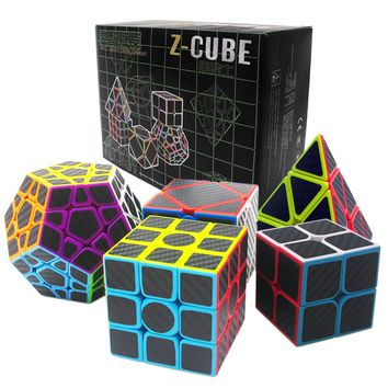 Gift 5PCS/set 2x2x2 3x3x3 Pyraminx Skew Cube Megaminx Professional Magic Cube for Boys Adults Magic Cube Puzzle 2*2 3*3