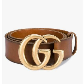 Free Shipping:GUCCI classic double G buckle head wild fashion smooth buckle pants belt