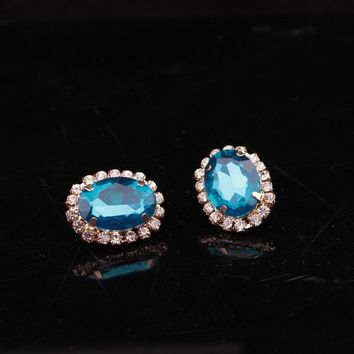 ES914 Bijoux Stud Earrings For Women Fashion Jewelry Party Brincos Crystal Earing OL boucle d'oreille