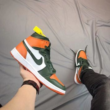 Air Jordan 1 Retro - Green/orange | Best Online Sale