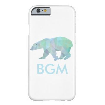 Geode Polar Bear Case with Initials Barely There iPhone 6 Case