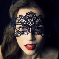 Women Sexy Black Lace Venetian Halloween Ball Masquerade Party Eye Mask Gift (Color: Black) = 5709711361