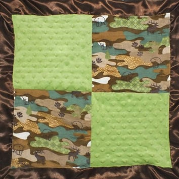 Baby boy camo lovey blanket baby boy hunting lovey blanket