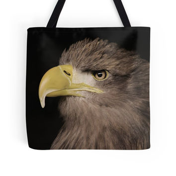 Eagle bag, eagle tote, brown bag, brown tote, bird gift, shopping bag, everyday bag, shoulder bag, grocery bag, book tote, reusable bag