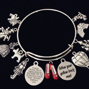 The Everything Wizard of Oz Charm Bracelet Expandable Adjustable Bangle One Size Fits All Gift